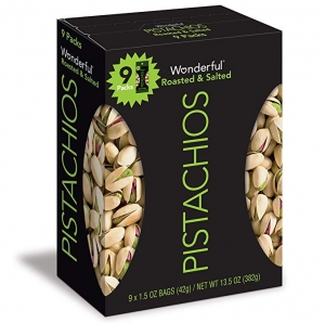 ihocon: Wonderful Pistachios, Roasted and Salted, 1.5 Ounce Bags (Pack of 9) 開心果