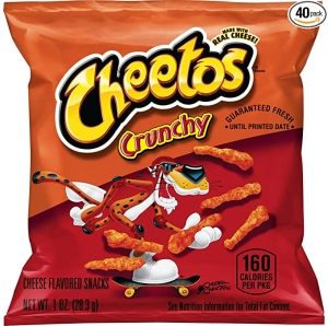 ihocon: Cheetos Crunchy Cheese Flavored Snacks, 1 Ounce (Pack of 40)