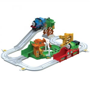 ihocon: Thomas & Friends Thomas the Tank Engine Big Loader, Motorized Train Set With 8 Feet of Track 湯瑪士火車及軌道