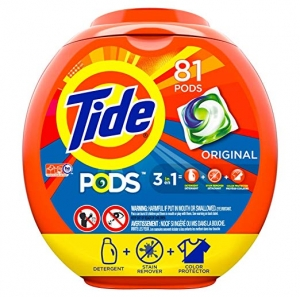 ihocon: Tide PODS 3 in 1 HE Turbo Laundry Detergent Pacs, Original Scent, 81 Count Tub 洗衣劑