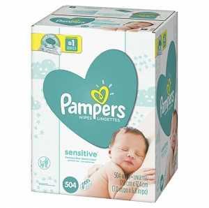 ihocon: Pampers Sensitive Water Based Baby Diaper Wipes, 9X Pop-Top Packs, 504 Count幫寶適嬰兒濕巾
