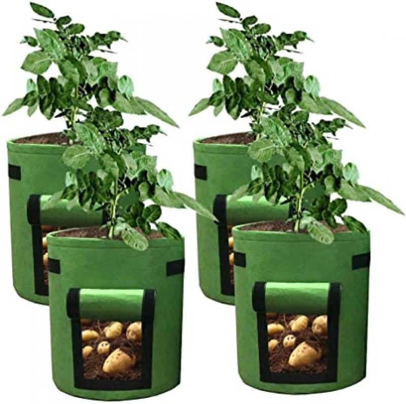 ihocon: HAHOME 4 Pack 7 Gallon Potato Grow Bag馬鈴薯種植袋