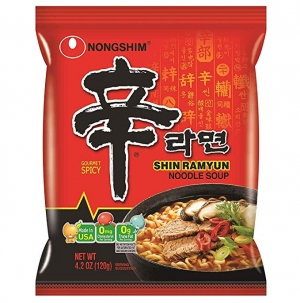 ihocon: Nongshim Shin Ramyun Noodle Soup, Gourmet Spicy, 4.2 Ounce (Pack of 20) 農心辛拉麵