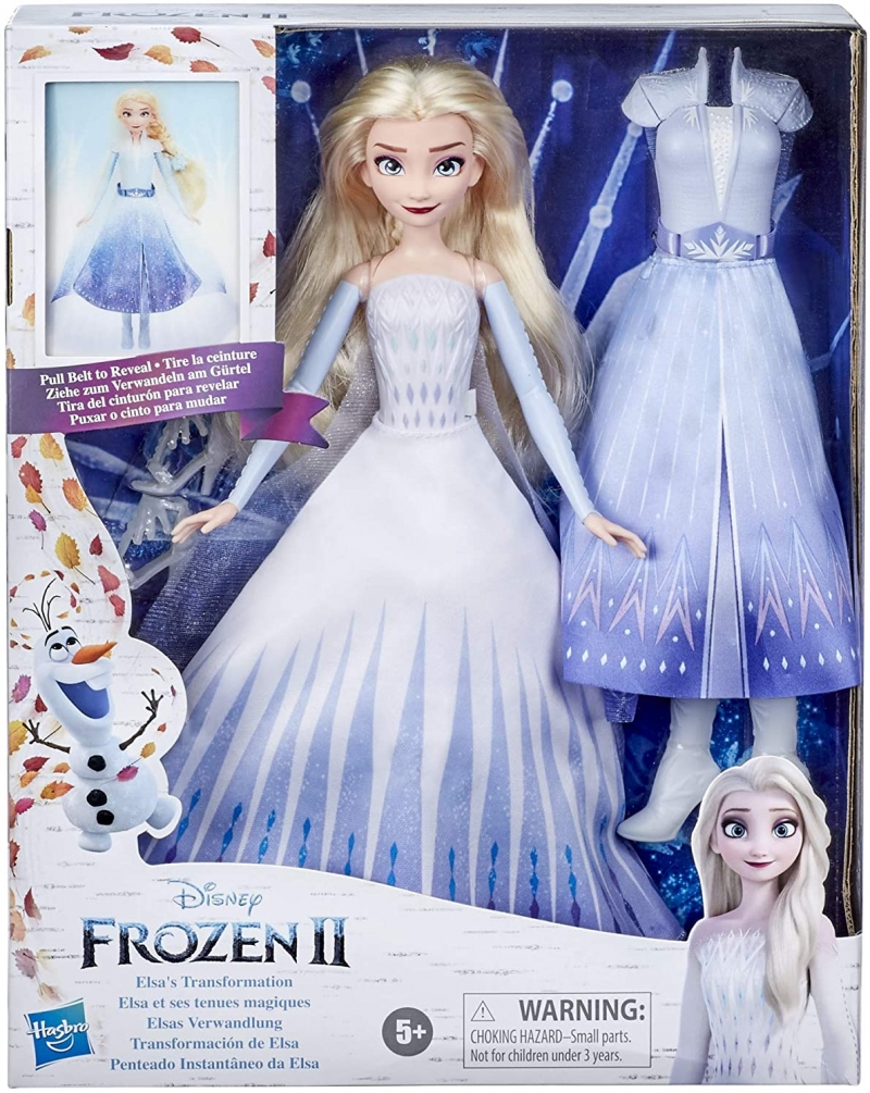 ihocon: Disney's Frozen 2 Elsa's Transformation Fashion Doll with 2 Outfits and 2 Hair Styles迪士尼的《冰雪奇緣2》艾莎娃娃具(含2套服裝和2種髮型)