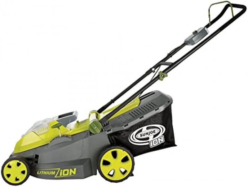 ihocon: Sun Joe iON16LM 40-Volt 16-Inch Brushless Cordless Lawn Mower 無線除草機(含電池及充電器)