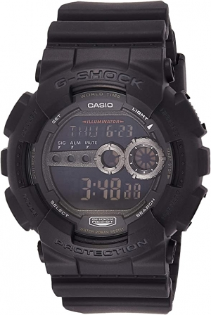 ihocon: Casio Men's GD100-1BCR G-Shock X-Large Black Multi-Functional Digital Sport Watch 卡西歐男士多功能運動錶