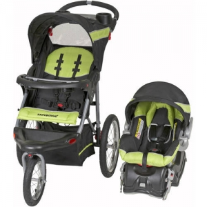 ihocon: Baby Trend Expedition Jogger Travel System, Electric Lime 慢跑嬰兒推車+嬰兒汽車座椅