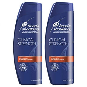 ihocon: Head and Shoulders Shampoo, Anti Dandruff, Clinical Strength Seborrheic Dermatitis Treatment, 13.5 fl oz, Twin Pack 抗頭皮屑洗髮精