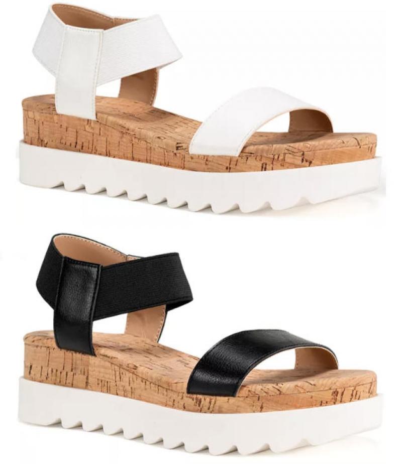 ihocon: Sun + Stone Melanyy Wedge Sandals 女士涼鞋-2色可選