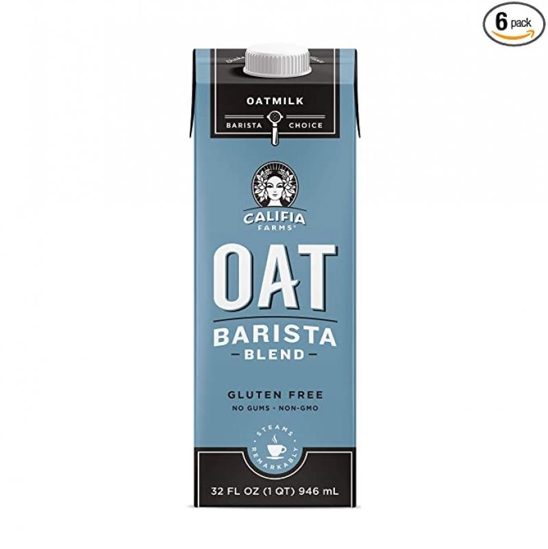 ihocon: Califia Farms Oat Milk, Unsweetened Barista Blend, 32 Oz (Pack of 6) 無糖燕麥奶