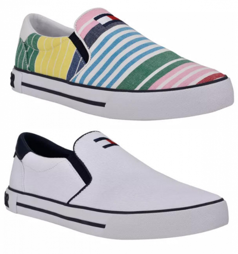 ihocon: Tommy Hilfiger Men's Roaklyn Slip-On Sneakers 男鞋-3色可選