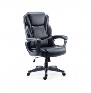 ihocon: Staples Mcallum Bonded Leather Manager Chair, Black 辦公椅/電腦椅