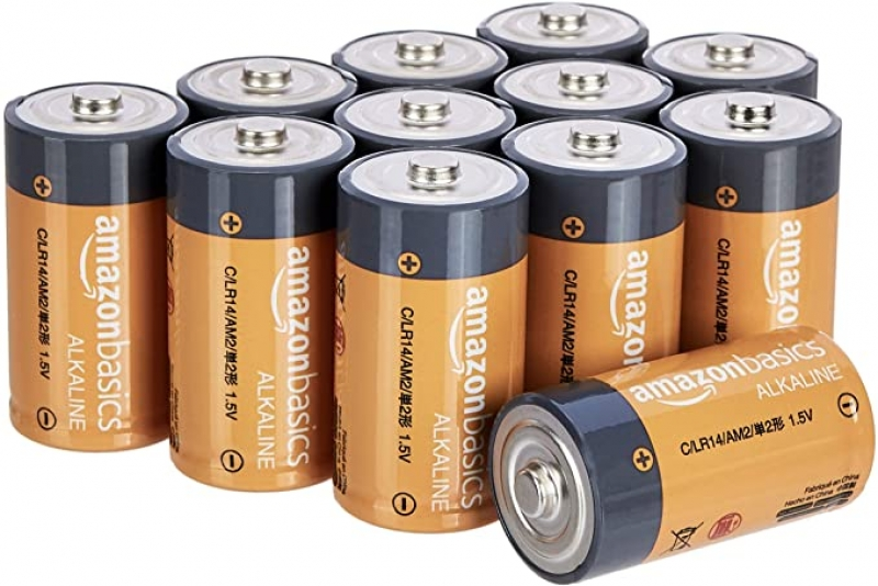 ihocon: Amazon Basics 12 Pack C Cell All-Purpose Alkaline Batteries, 5-Year Shelf Life電池