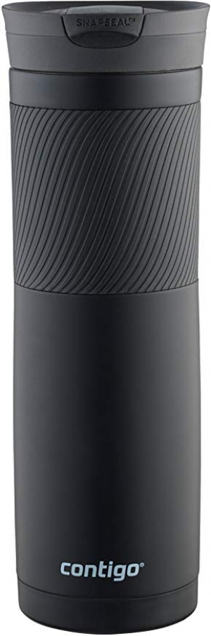 ihocon: Contigo Snapseal Byron Stainless Steel Travel Mug, 24 oz., Matte Black  不銹鋼保温杯