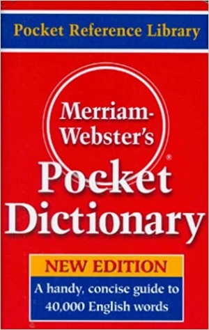 ihocon: [最新版]Merriam-Webster's Pocket Dictionary, Newest Edition 韋伯口袋型字典