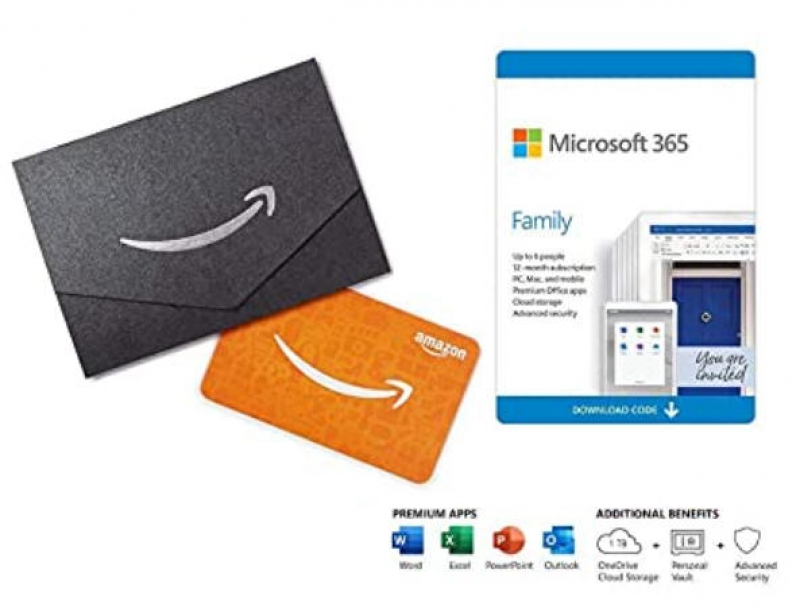 ihocon: 12個月 Microsoft 365 Family (Auto-Renewal) + $50 Amazon Gift Card