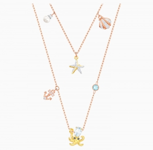 ihocon: Swarovski 施華洛世奇水晶 Ocean Necklace, Multi-colored, Mixed plating 彩色海洋世界項鍊