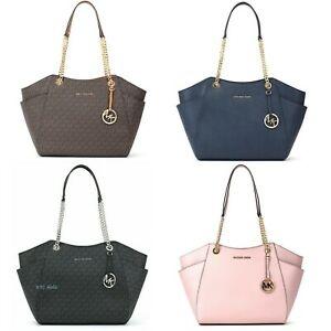 ihocon: Michael Kors Chain Shoulder Tote Bag Saffiano Leather包包- 多色可選