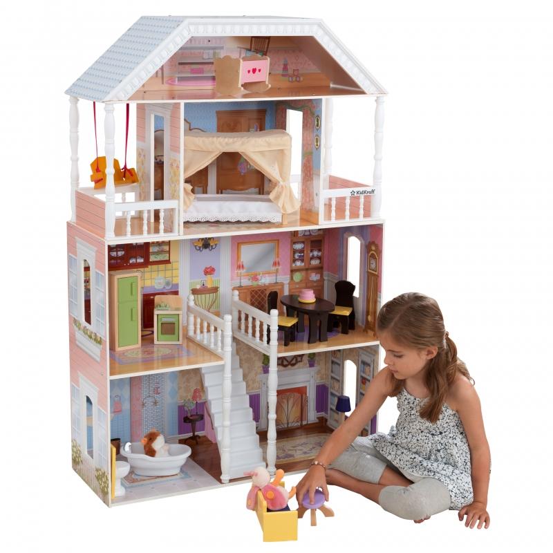 ihocon: KidKraft KidKraft Savannah Dollhouse with 14 Accessories Included 娃娃屋, 含配件