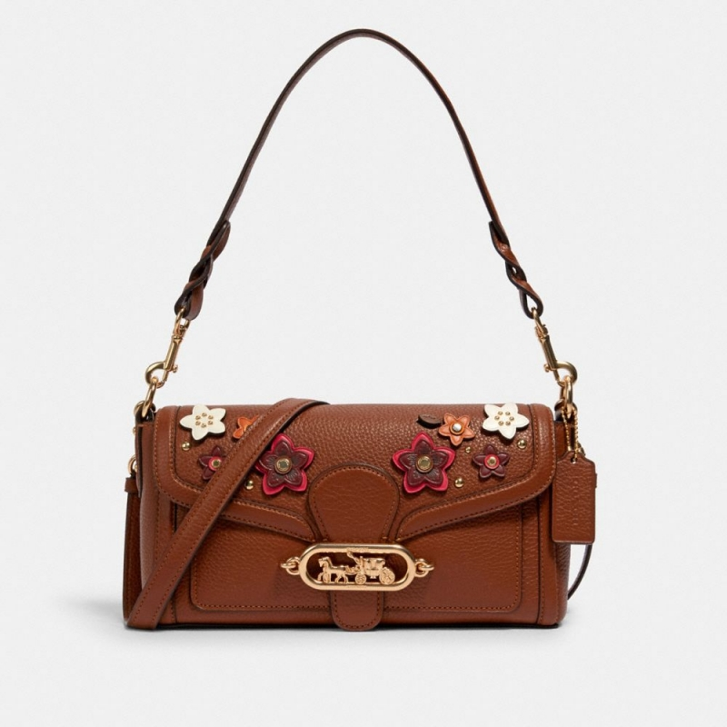 ihocon: Coach jade shoulder bag with daisy applique 玉石貼花包包