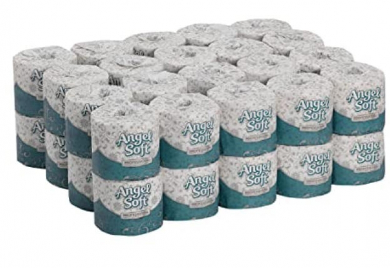 ihocon: Georgia Pacific Angel Soft Professional Series Premium 2-Ply Embossed Toilet Paper, 450 Sheets Per Roll, 40 Rolls Per Case廁所衛生紙