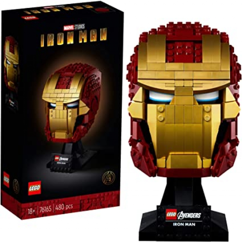 ihocon: [2020新款] LEGO Marvel Avengers Iron Man Helmet 76165, New 2020 (480 Pieces) 鋼鐵人頭盔