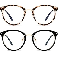 ihocon: FEIDU Retro Round Blue Light Blocking Glasses, 2pack 護眼藍光眼鏡