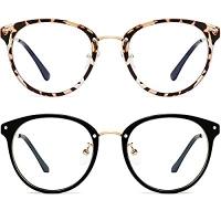 ihocon: FEIDU Retro Round Blue Light Blocking Glasses, 2pack 護眼藍光眼鏡
