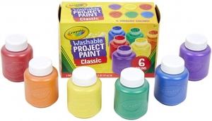 ihocon: Crayola Washable Kids Paint, 6 Count可水洗兒童繪圖顏料