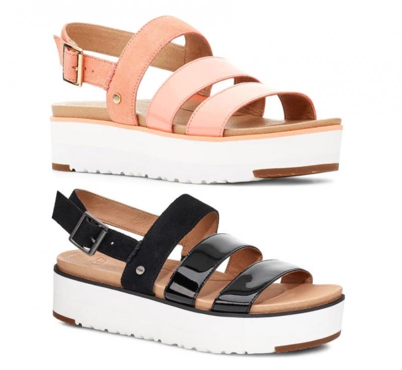 ihocon: UGG Braelynn Flatform Sandal 女士涼鞋