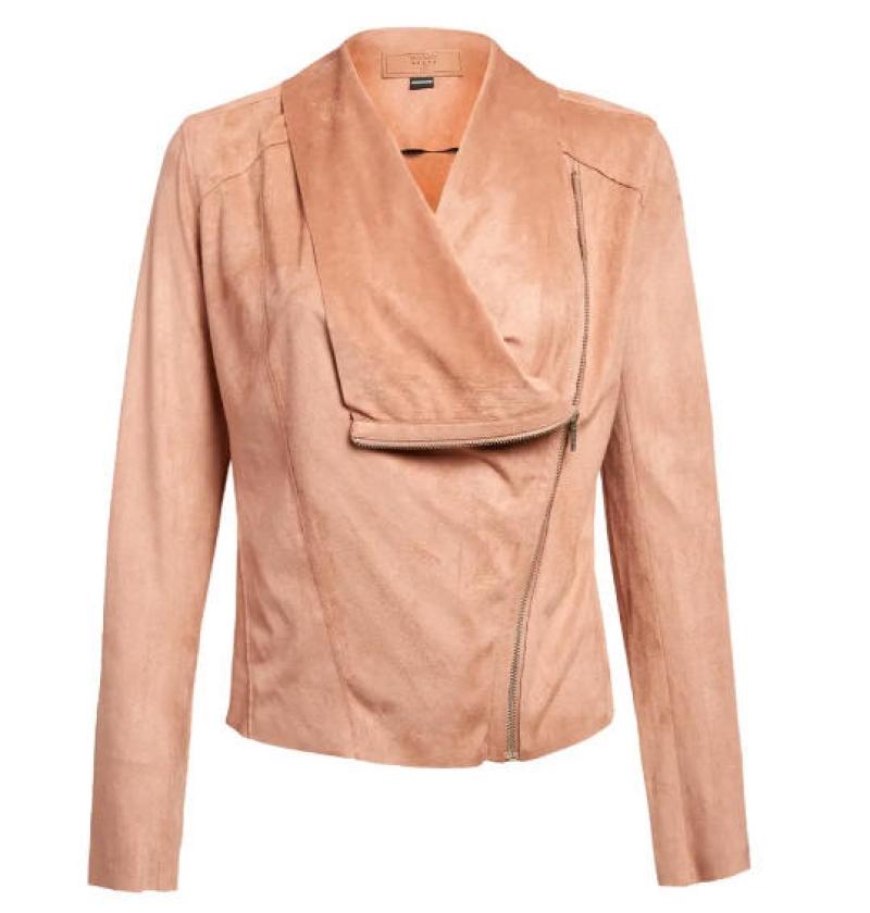 ihocon: BLANKNYC Drape Front Faux Suede Jacket 女士仿麂皮夾克-多色可選