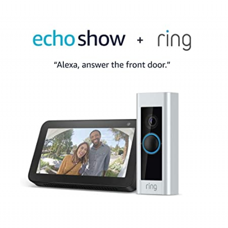 ihocon: [翻新機] Certified Refurbished Ring Video Doorbell Pro with Certified Refurbished Echo Show 5