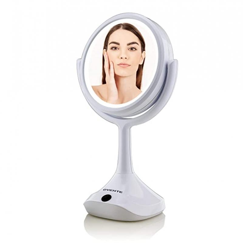 ihocon: Ovente Table Top Makeup Beauty 6 Inch LED燈化妝鏡
