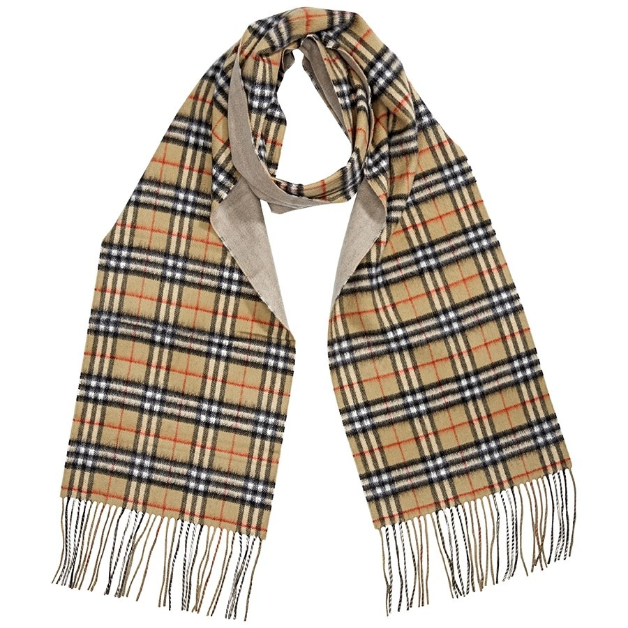 ihocon: Burberry Long Reversible Vintage Check Scarf 雙面圍巾