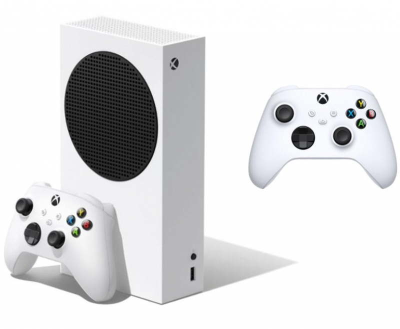 ihocon: Microsoft Xbox Series S 512 GB All-Digital Console (Disc-free Gaming) - White and Controller