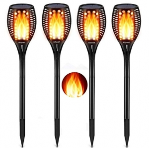 ihocon: Aityvert Solar LED Torch Light Waterproof Flickering Flame or Garden Patio Driveway 4 Pack 太陽能自動開/關火炬燈4盞