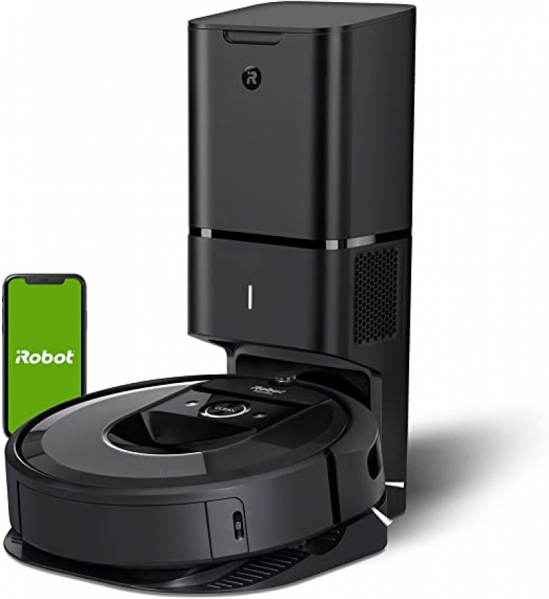ihocon: iRobot Roomba i7+ Robot Vacuum with Automatic Dirt Disposal-Empties Itself, Wi-Fi Connected, Smart Mapping, Works with Alexa,智能掃地機器人