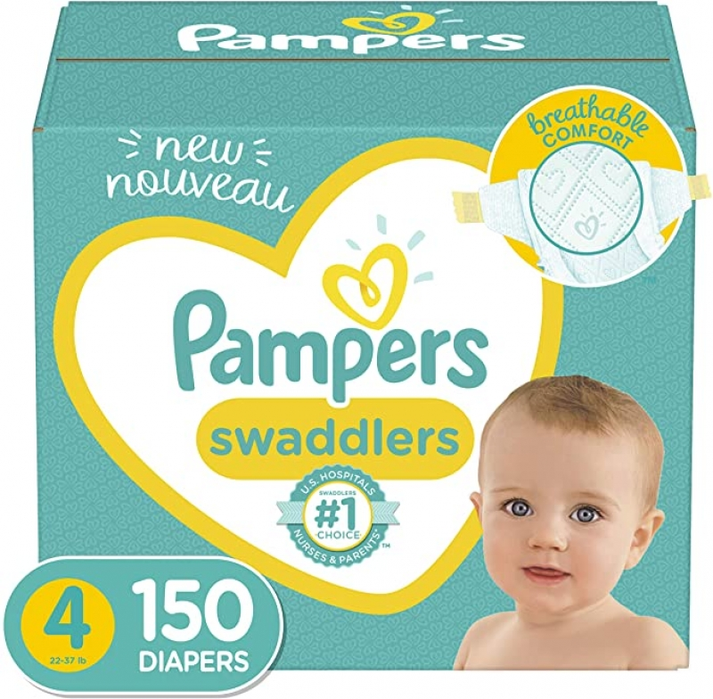 ihocon: Pampers Swaddlers Diapers Size 4, 150 Count 幫寶適嬰兒尿片