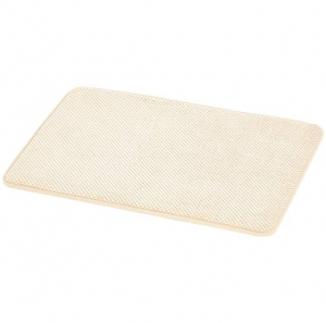 ihocon: AmazonBasics Textured Memory Foam Bath Mat - Small, Beige 記憶綿浴室地墊