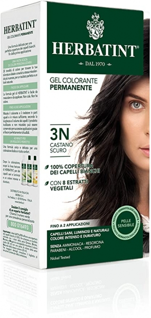ihocon: Herbatint Permanent Herbal Haircolour Gel 3N Dark Chestnut - 135 mL 草本染髮劑