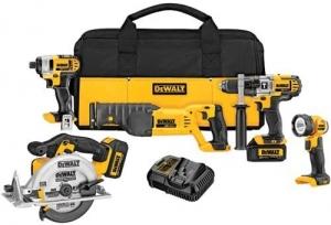 ihocon: DEWALT 20V MAX Cordless Drill Combo Kit, 5-Tool 無線電動工具