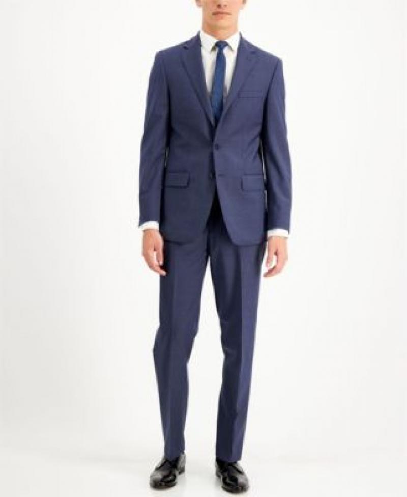 ihocon: Calvin Klein Men's Slim Fit 2-Piece Wool Suits 男士羊毛混紡西服一套-多色可選