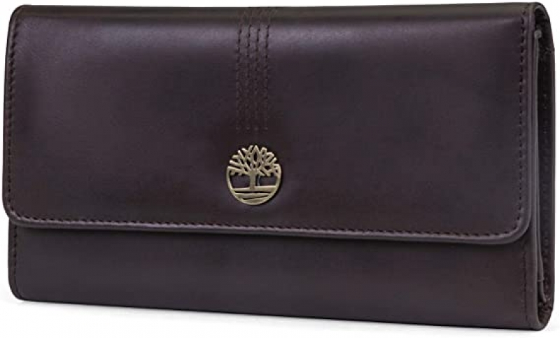 ihocon: Timberland Womens Leather RFID Flap Wallet Clutch Organizer 女士RFID防資料竊取真皮錢夾
