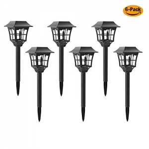 ihocon: 6-Pack Solar Pathway Outdoor Lights太陽能庭院燈