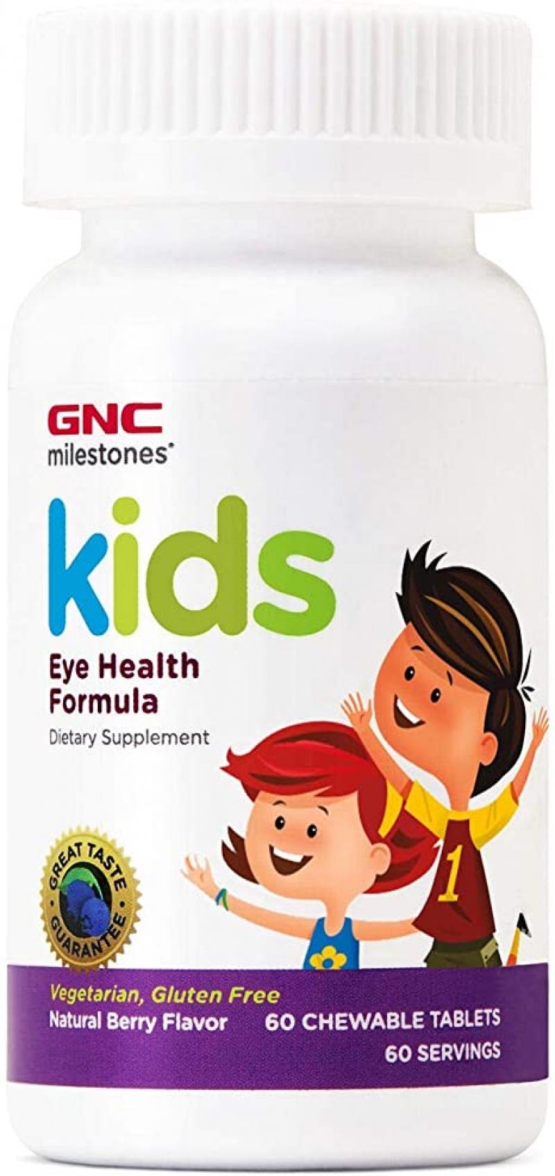ihocon: GNC Milestones Kids Eye Health Formula, 60 Chewable Tablets, Supports Eye and Vision Health 兒童眼睛保健補充品