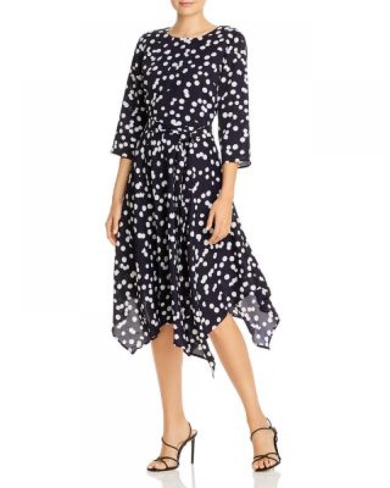 ihocon: T Tahari Polka Dot Handkerchief-Hem Midi Dress 女士洋裝
