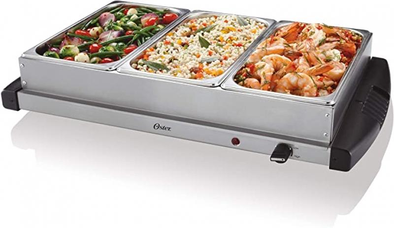 ihocon: Oster Buffet Server Warming Tray, 2.5 Quart, Stainless Steel 不銹鋼三重保温盤