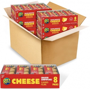 ihocon: Ritz Ritz Cracker Sandwiches (Cheese, 1.38-Ounce Packs, 48 Pack), 6 Count  起十夾心餅乾