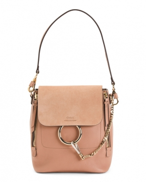 ihocon: CHLOE Made In Italy Leather Backpack 義大利製包包, 背包2用包