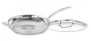 ihocon: Cuisinart MCP22-30HCN MultiClad Pro Skillet with Helper and Cover, 12-Inch含蓋不銹鋼鍋